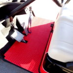 Red Golf Car Floor Mat