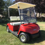 2000 Yamaha G19E Factory Red 48 Volt Electric